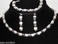 Hugs And Kisses Silver Tone Xoxo 3pc Set Necklace, Earrings And Bracelet