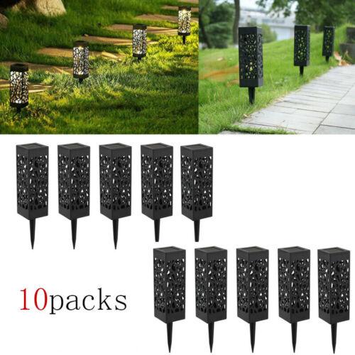 4-12//Set LED Solarlampe Solarleuchte Gartenlicht Außen-Beleuchtung Gartenfackel