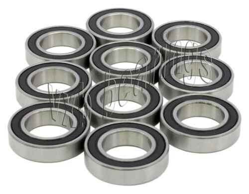 10 Wheel Bearing 6203-2RS 17x40 mm Metric Ball Bearings