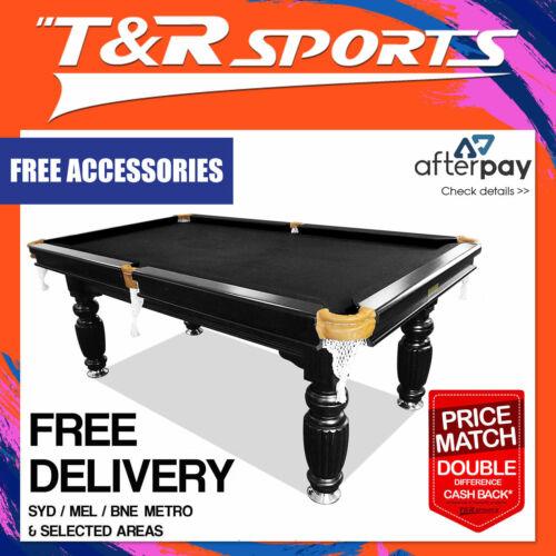 7ft black slate pool table