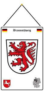 Braunschweig Germany Emblem Shield with Cord Tin Sign 20 X 30 CM FA1081-K