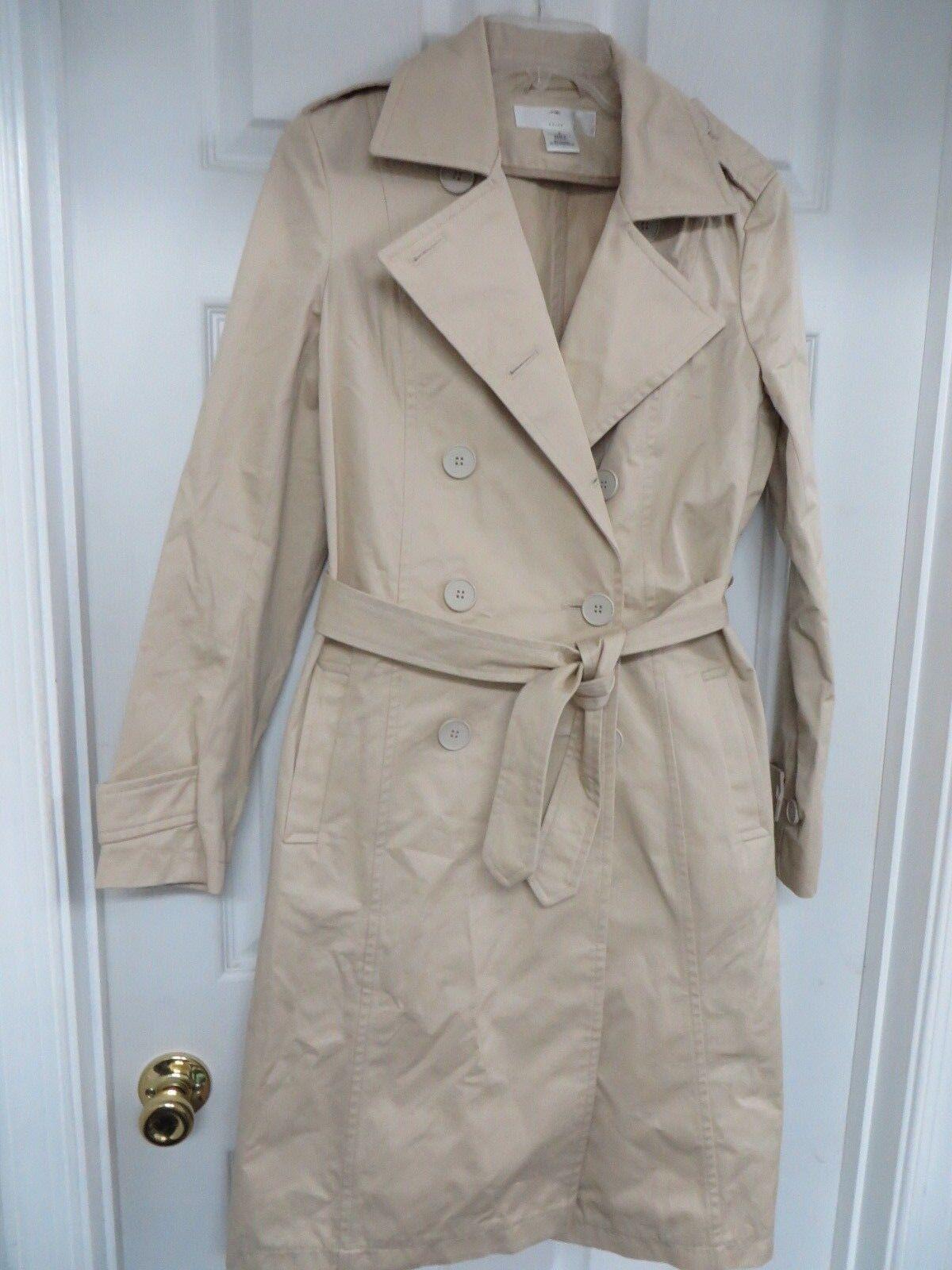 Retail  320 ETIQUETA NEGRA Twill Trenchcoat Double breasted Tan Medium NWOT