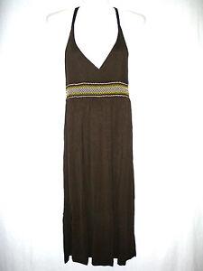 Details zu Damenmode Kleider H&M Damen Kleid Gr.9 Dunkelbraun Weiche  schöne Qualität #9