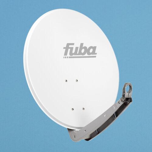 Twin LNB Sat Spiegel HDTV Fuba DAA 650 W weiss HD Sat Anlage 2 Teilnehmer 65cm
