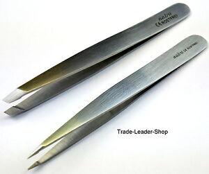2er-Set-Tweezers-7-5cm-Hair-Tweezers-Splinter-Tweezers-Eyebrows-Stainless-Steel