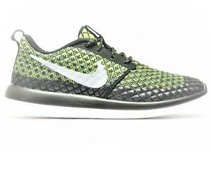 8e2d9c64444a Mens NIKE ROSHE TWO FLYKNIT 365 Black Running Trainers 859535 700