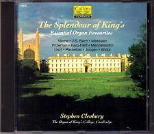 THE SPLENDOUR OF KING'S 13 Organ Works STEPHEN CLEOBURY CD Bach Vierne Messiaen