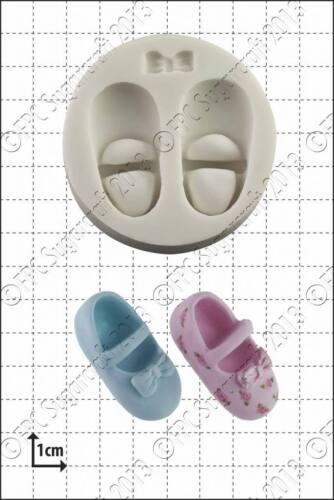 Moule Silicone Bébé Chaussures /& bowusage alimentaire FPC Sugarcraft expédition gratuite R-U!