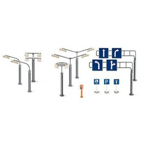 Siku World Accessories - Signs & Street Lamps - Road Set 5594 Lights Cartelli