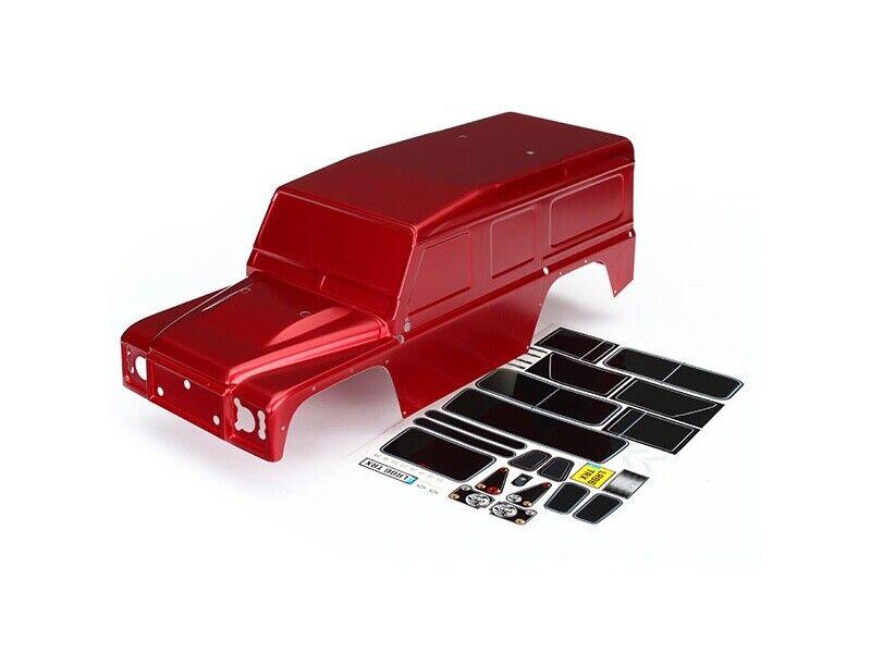 Traxxas Karo, Land Rover Defender, Rojo + Decals trx-4 - 8011r