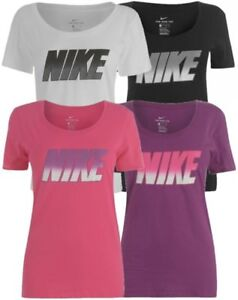 NIKE-QQT-Damen-T-Shirt-Oberteil-Top-Fitnessshirt-Laufshirt-Sportshirt-NEU