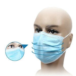 50-St-1ck-Masken-Chirurgische-Einweg-Mundschutz-Ohr-Gesichtsmaske-OP-Maske-o0