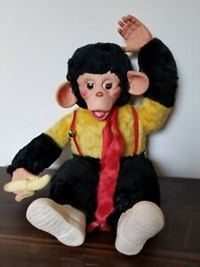 Vintage Mr. Bim Zip Zippy Stuffed Chimp/Monkey with Banana 18 inches tall