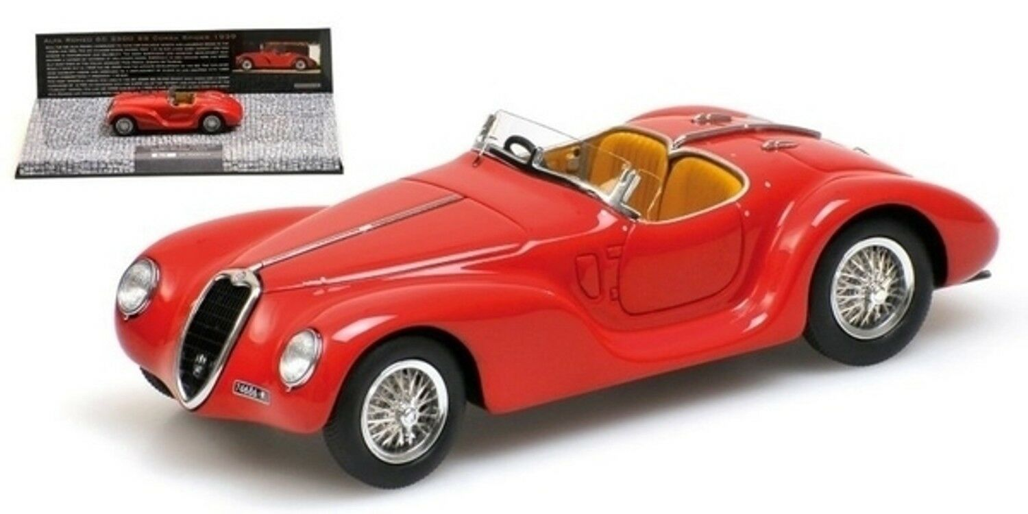 ALFA ROMEO 6C 2500 SS CORSA SPIDER 1939 rouge MINICHAMPS 437120230 1 43 rouge rouge