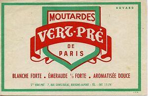 BUVARD - PUBLICITAIRE - MOUTARDE VERT PRE - MAISONS-ALFORT - Petite froissure PCKhuXwU-09101823-416493527