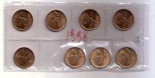 Repubblica Italiana  20 lire 1998  Ramo di Quercia  bronzital    FDC  (8 pezzi)