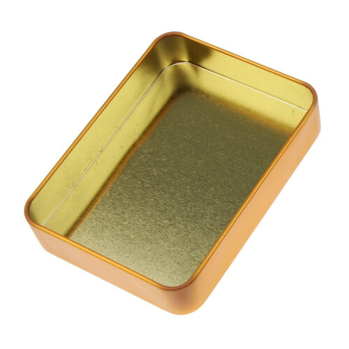 Rectangular Decoration Box Jewelry Home Iron Small Jar Holder Storage Tins