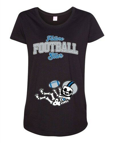 Future Football Star Detroit Baby Skeleton Maternity DT T-Shirt Tee