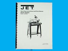 Jet  10-20 Plus  Drum Sander Operating Instruct & Parts  Manual *205