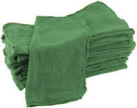 500 Industrial Shop Rags / Cleaning Towels Green on sale