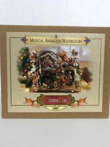 Grandeur-Noel-Musical-Animated-Waterglobe-Collector-039-s-Edition-2003-Christmas