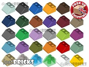 10 Pack of NEW LEGO Slopes 2x2 45° (Part 3039) + SELECT COLOUR ++ FREE POSTAGE
