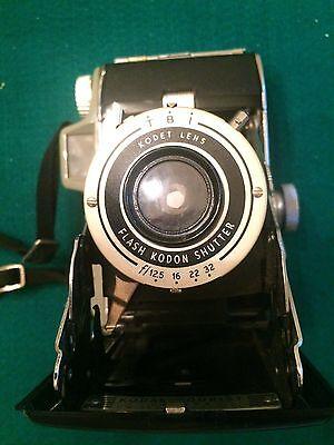 Vintage Kodak Tourist Camera w/Kodet Lens & Flash Kodon Shutter in Original Box