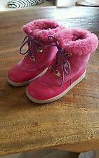 vintage LURCHI Salamander lammfell stiefel boots 80er 90er neu gr.26 pink leder