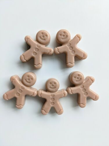 PACK OF 5 SCENTED WAX MELTS GINGERBREAD MEN SOY WAX -CHRISTMAS