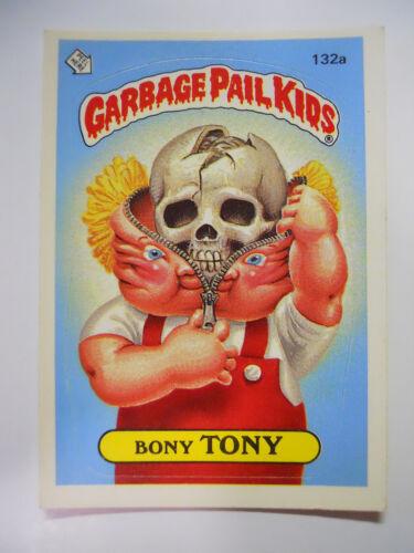 VINTAGE 1986 Topps Garbage Pail Kids Trading Card #132a-Bony Tony