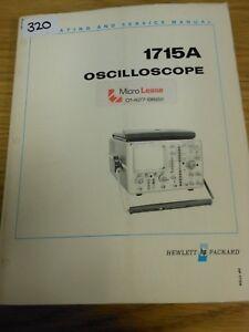 hp agilent 1715a oscilloscope operating and service manual loc 320 rh ebay co uk hp agilent 34401a service manual hp agilent 34401a service manual