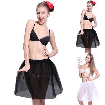 Knielang Tütü Tutu Ballettrock 5 Lagen Tüll Petticoat Ballettkleid Rock Minirock