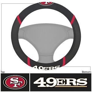 New-NFL-San-Francisco-49ers-Car-Truck-Embroidered-Steering-Wheel-Cover