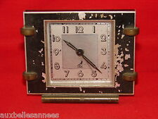 ANCIEN RÉVEIL MÉCANIQUE JAZ ART DECO / HORLOGE PENDULE MOUVEMENT OLD CLOCK