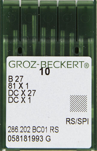 Serger sewing machines needles GROZ-BECKERT B-27 BOX Overlock Sz 9 Juki