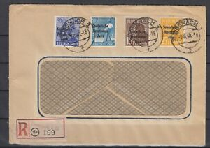 DC7974/ GERMANY SOVIET ZONE – MI # 187 + 189 + 191 + 194 ON REGISTERED COVER