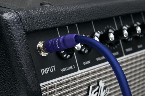 5 Stück flexible Neonblaue Gitarren und Instrumentenkabel für Bühne und Studio