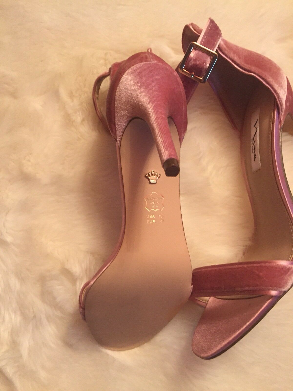 Nina new york Damenschuhe 10 Sweet Heel Rose High Heel Sweet Velvet Sandale 4cb022