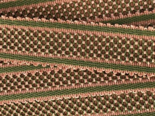 HOULES PASSEMENTERIE Lattice Trim Tape from France Pink /& Green BTY