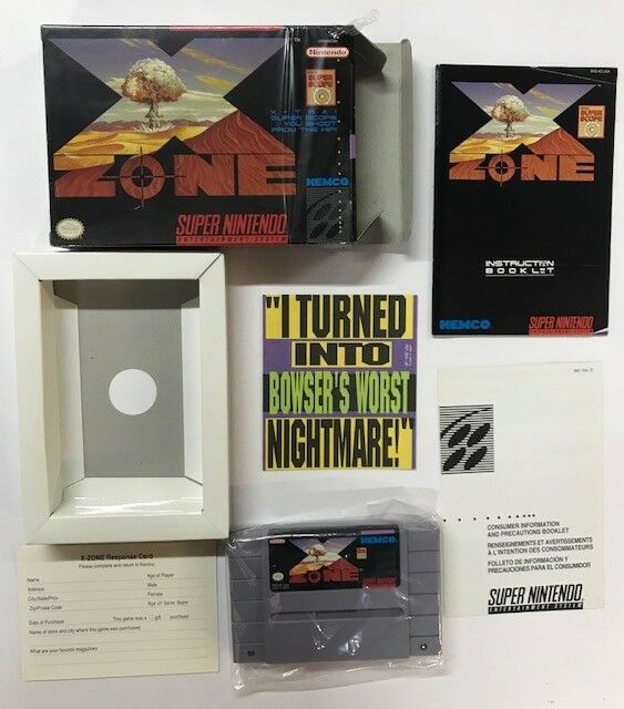 Super Nintento Entertainment System X ZONE SNES USA für SUPERSCOPE SuperNintendo
