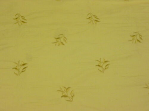 """EMBROIDERED SILK FABRIC DREAMS LILY 54/""""W SOFT GOLD BY HALF METRE"""