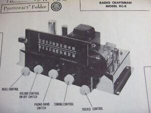RADIO-CRAFTSMEN-RC-8-TUNER-RECEIVER-PHOTOFACT