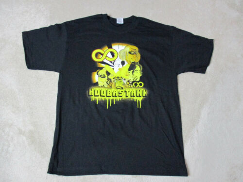 NEW Hoobastank Concert Shirt Adult Large Black Yellow Band Tour Rock Roll Mens