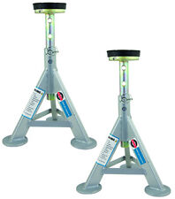 Esco 10498 3 Ton Jack Stands - Flat Top Rubber Cushion (Sold as Pair)