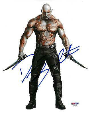 Flight Tracker Dave Bautista Signed Guardians Of The Galaxy Auto 8x10 Photo Psa/dna #ab5578 Making Things Convenient For The People Autographs-original