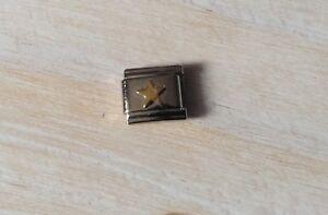 9mm Italian Modular Classic Size Charm Letter M **UK SELLER**