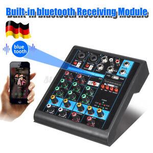 Mischpult-4-Kanal-bluetooth-USB-Mini-Audio-Mixer-Record-DJ-Konsole-Verstaerker-DE