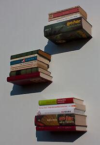 3er-Set-Taschenbuch-Kinderbuch-Reclam-Konsole-unsichtbar-Wand-Deko-Buecherboard