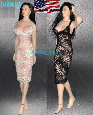 "1//12 Lace Dress Lingerie For 6/"" TBLeague PHICEN T01 Female Figure Doll ❶USA❶"