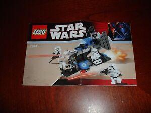 Lego Star Wars 7667 Imperial Dropship Manuel D'instruction-afficher Le Titre D'origine 100% D'Origine